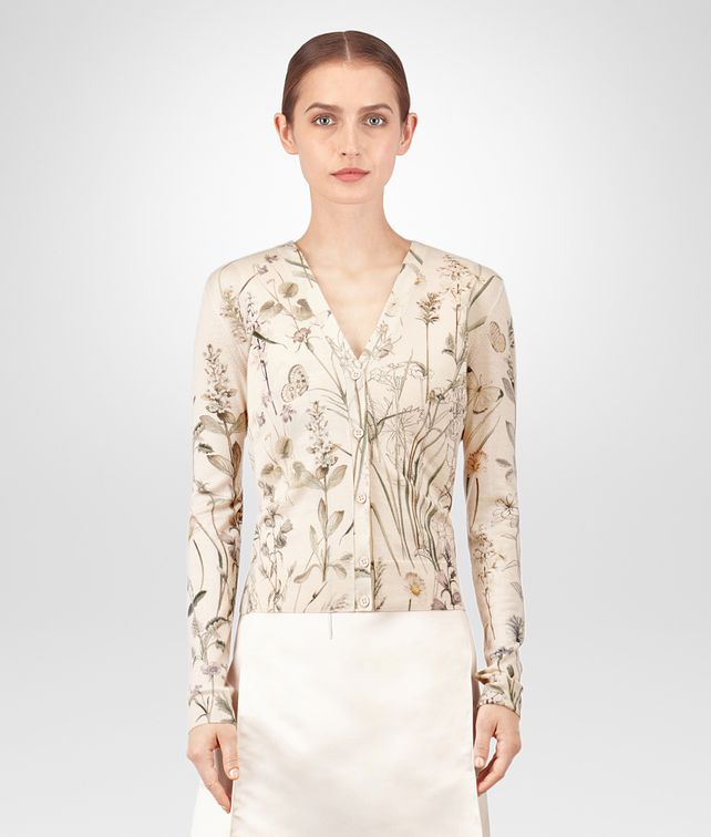 BOTTEGA VENETA BOTANICAL PRINT CASHMERE SWEATER Knitwear or Top or Shirt [*** pickupInStoreShipping_info ***] fp