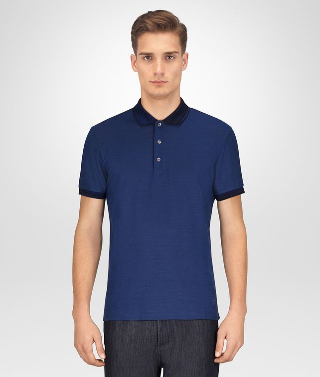 BOTTEGA VENETA COBALT COTTON POLO Polo And Tee [*** pickupInStoreShippingNotGuaranteed_info ***] fp