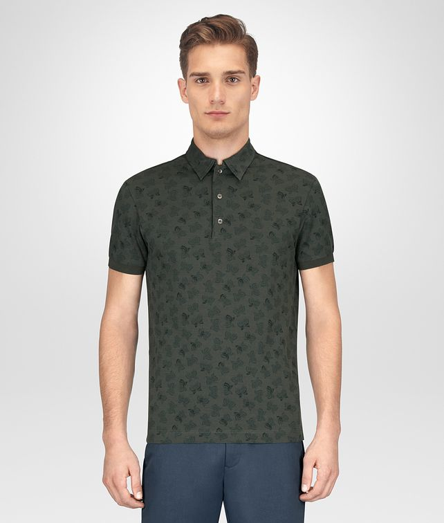 BOTTEGA VENETA MOSS COTTON POLO T-Shirt and Polo [*** pickupInStoreShippingNotGuaranteed_info ***] fp