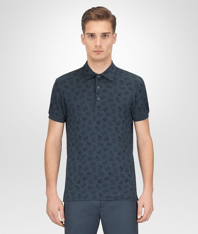 BOTTEGA VENETA DENIM COTTON POLO Polo And Tee Man fp