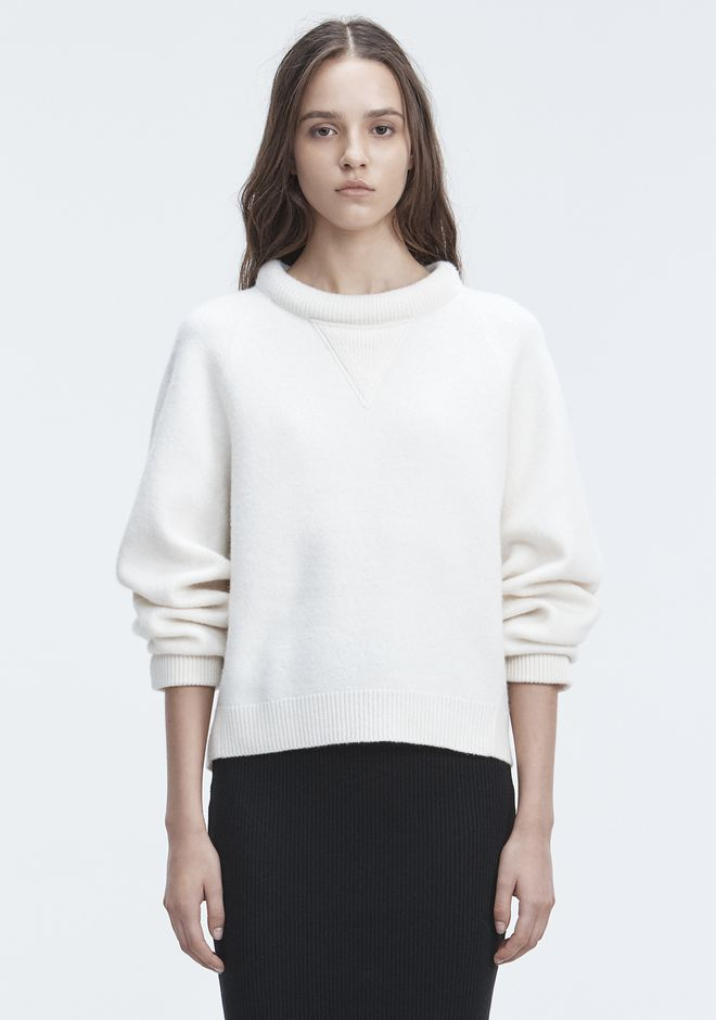 T by ALEXANDER WANG TOPS BOILED WOOL SWEATER