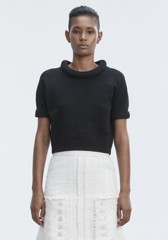 T by ALEXANDER WANG knitwear-t-by-alexander-wang-woman BOILED WOOL SHORT SLEEVE SWEATER