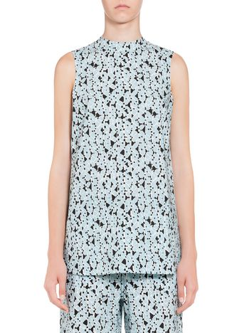 Marni Top in poplin Cosmos print Woman