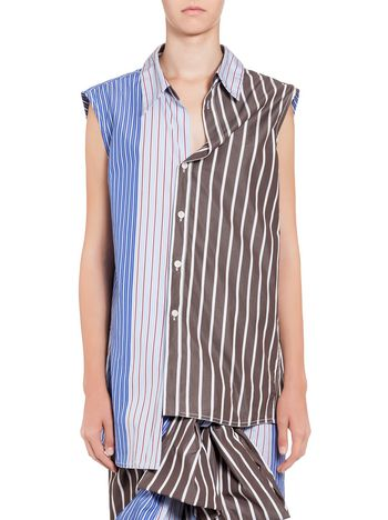 Marni Top in striped cotton Woman