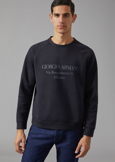 "SWEATSHIRT WITH ""BORGONUOVO"" PRINT"