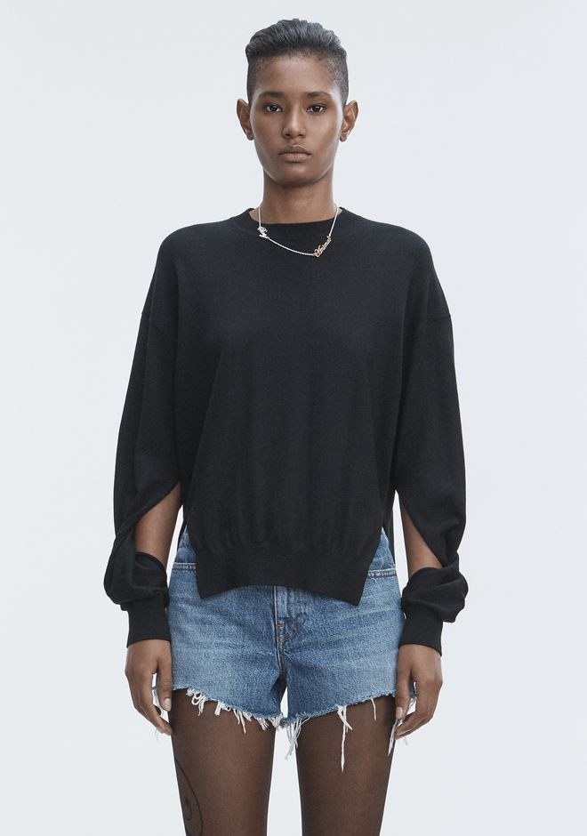 T by ALEXANDER WANG knitwear-t-by-alexander-wang-woman TWISTED SLEEVE SWEATER