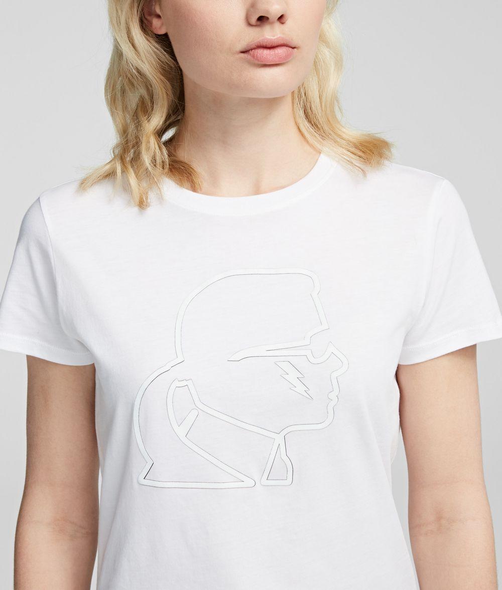 KARL LAGERFELD Ikonik Karl Lightning Bolt Tee T-shirt Woman d