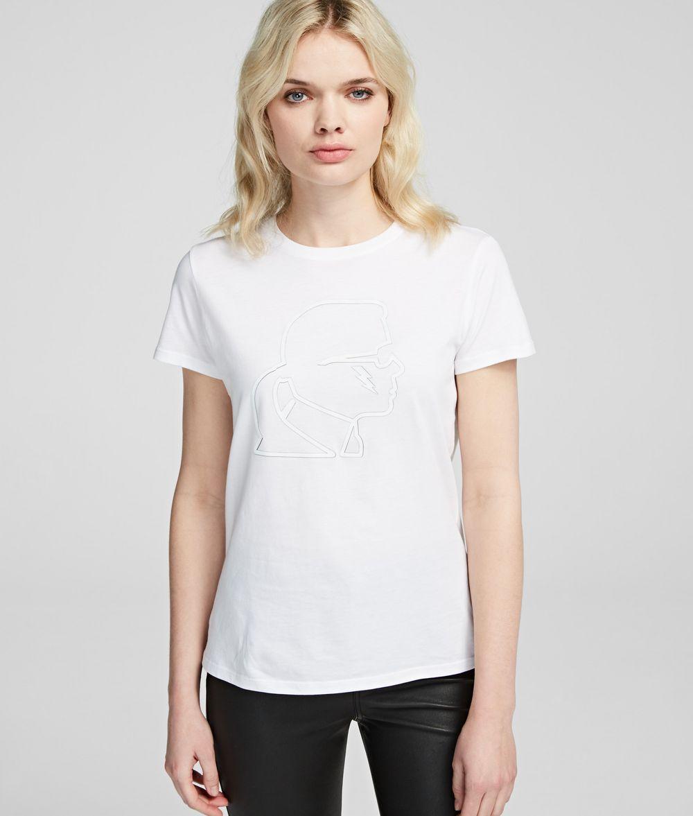 KARL LAGERFELD Ikonik Karl Lightning Bolt Tee T-shirt Woman f
