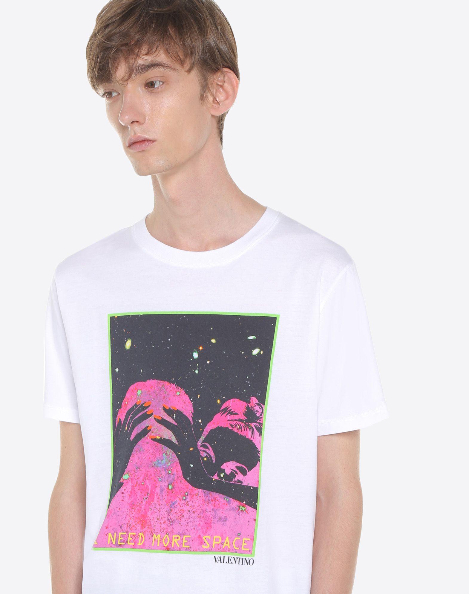 Valentino i need more space print t shirt white modesens for I need t shirts printed