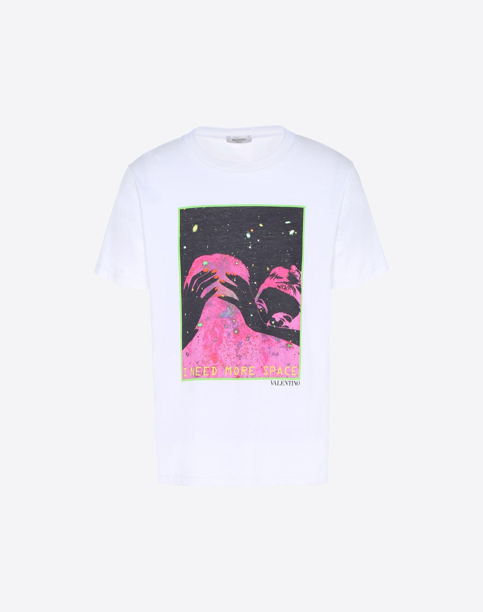 Valentino I Need More Space Print T Shirt White Modesens