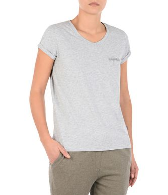 NAPAPIJRI SHEW WOMAN SHORT SLEEVE T-SHIRT,LIGHT GREY