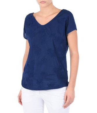 NAPAPIJRI SILULE WOMAN SHORT SLEEVE T-SHIRT,DARK BLUE