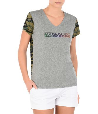 NAPAPIJRI SOURY WOMAN SHORT SLEEVE T-SHIRT,GREY