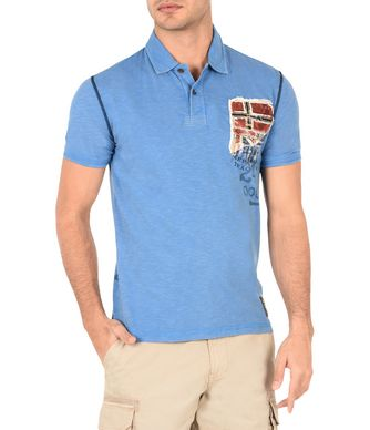NAPAPIJRI ELLIDI MAN SHORT SLEEVE POLO,BLUE