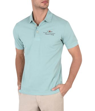 NAPAPIJRI ELBAS MAN SHORT SLEEVE POLO,LIGHT GREEN