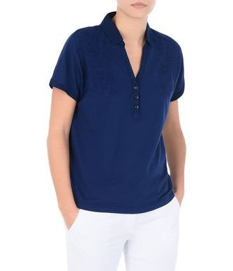 NAPAPIJRI EKELYN WOMAN SHORT SLEEVE POLO,DARK BLUE