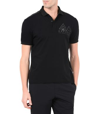 NAPAPIJRI EVERS MAN SHORT SLEEVE POLO,BLACK