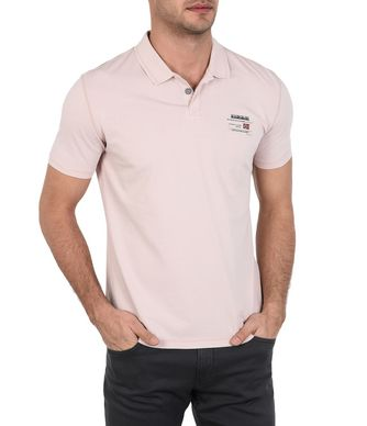 NAPAPIJRI EGEGIK MAN SHORT SLEEVE POLO,LIGHT PINK