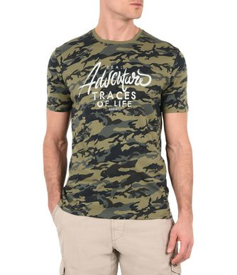 NAPAPIJRI SIROK MAN SHORT SLEEVE T-SHIRT,MILITARY GREEN
