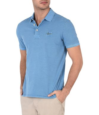 NAPAPIJRI EYR MAN SHORT SLEEVE POLO,AZURE