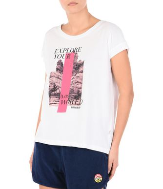 NAPAPIJRI SADAL WOMAN SHORT SLEEVE T-SHIRT,BIANCO F76