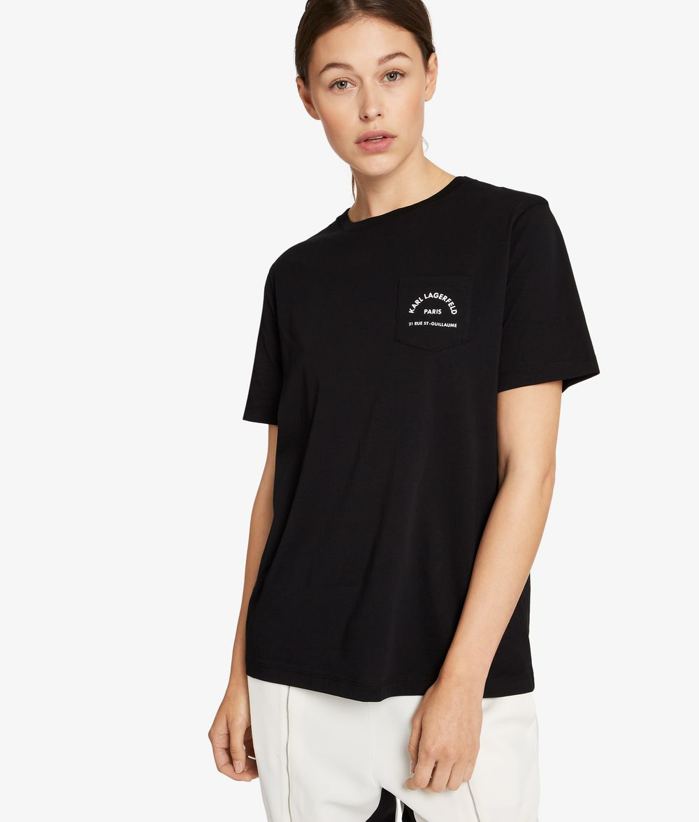 KARL LAGERFELD Kl Logo Pocket T-Shirt T-shirt Woman f
