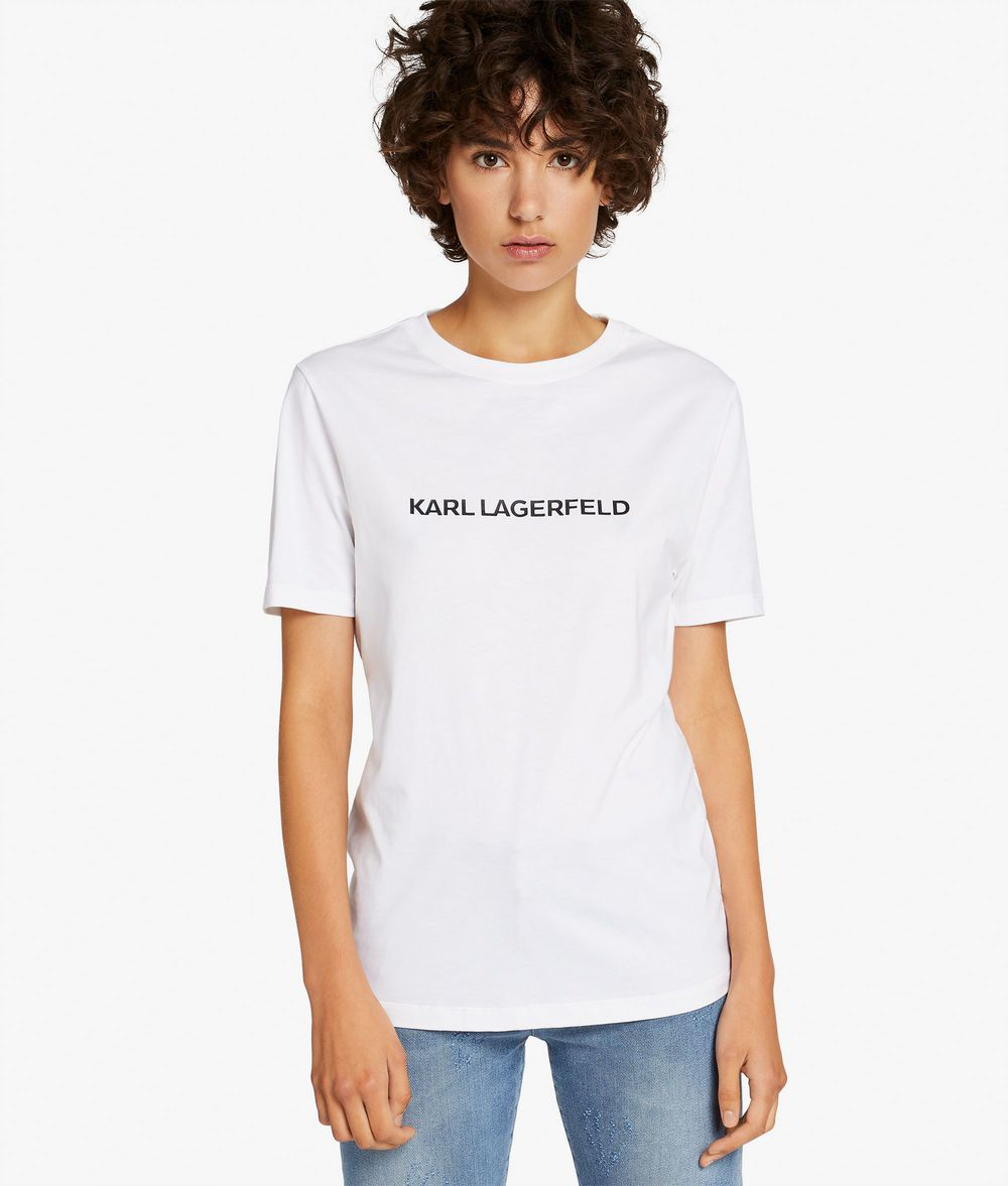 KARL LAGERFELD Leger geschnittenes Unisex-T-Shirt T-Shirt E d