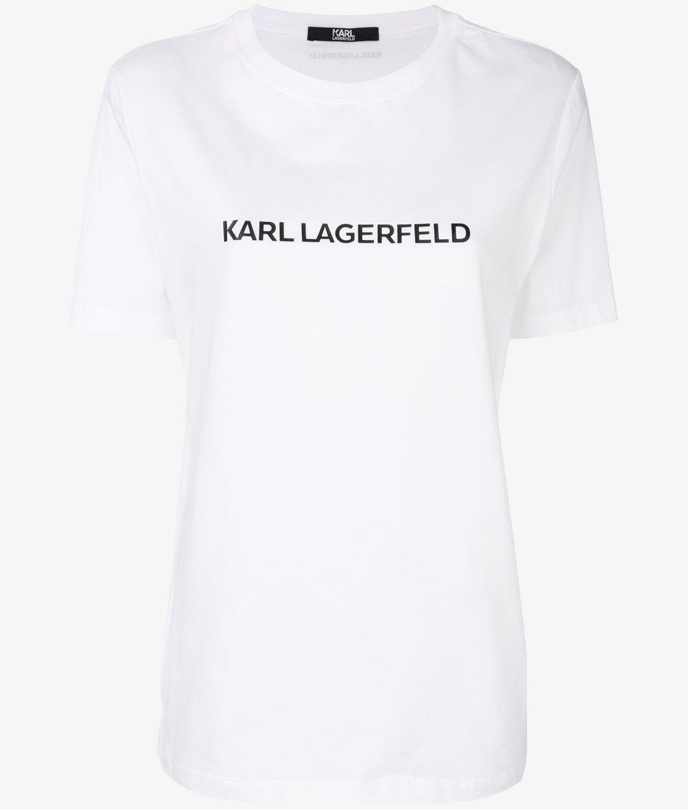 KARL LAGERFELD Leger geschnittenes Unisex-T-Shirt T-Shirt E f