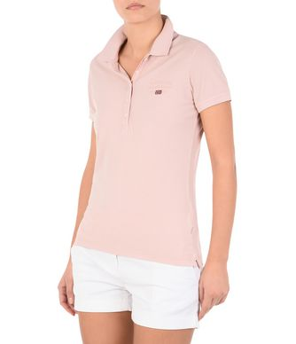 NAPAPIJRI ELMA WOMAN SHORT SLEEVE POLO,LIGHT PINK