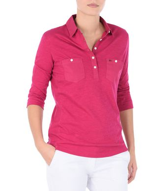 NAPAPIJRI EMY WOMAN LONG SLEEVE POLO,FUCHSIA