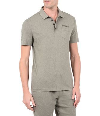 NAPAPIJRI ELANGE MAN SHORT SLEEVE POLO,GREY