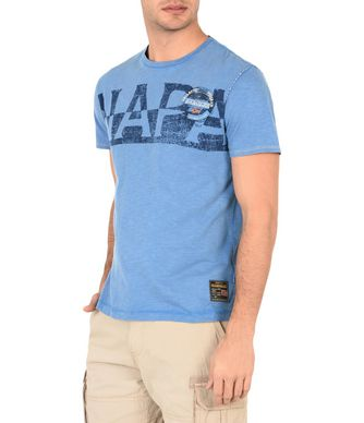 NAPAPIJRI SABOL MAN SHORT SLEEVE T-SHIRT,BLUE