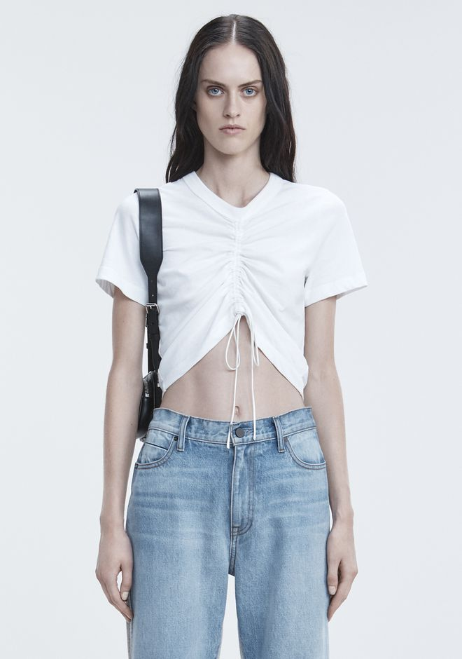 T by ALEXANDER WANG TOPS GATHERED FRONT TSHIRT