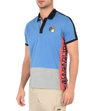 NAPAPIJRI ELOCK MAN SHORT SLEEVE POLO,AZURE