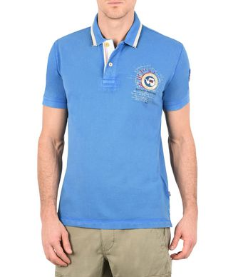 NAPAPIJRI GANDY MAN SHORT SLEEVE POLO,AZURE