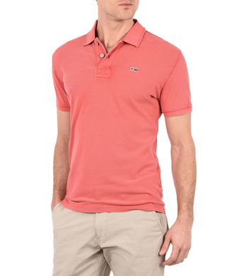 NAPAPIJRI TALY MAN SHORT SLEEVE POLO,CORAL