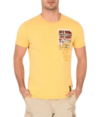 NAPAPIJRI STAK MAN SHORT SLEEVE T-SHIRT,YELLOW