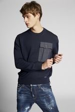 DSQUARED2 Denim Pocket Wool Pullover Pullover Man