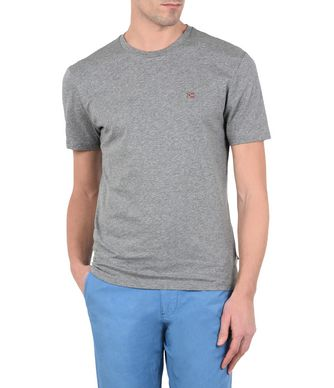 NAPAPIJRI SENOOS CREW NECK MAN SHORT SLEEVE T-SHIRT,GREY