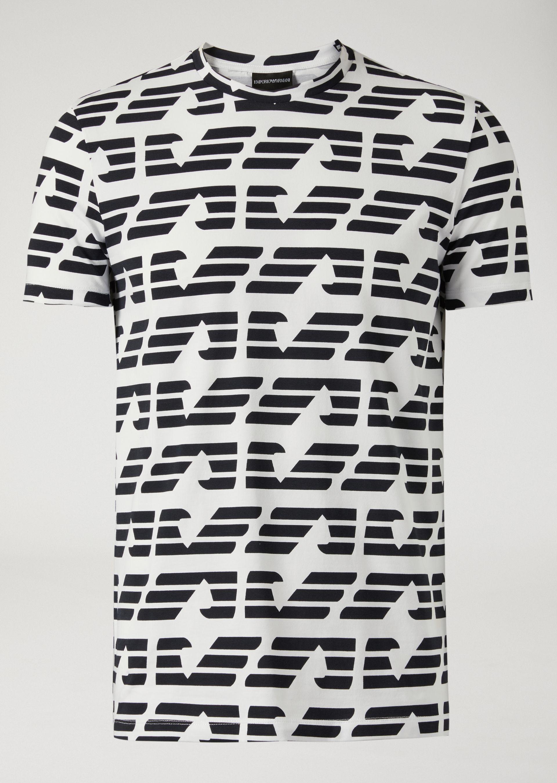 ... EMPORIO ARMANI T-shirt with all over logo T-Shirt U r ... 971d3af32c66