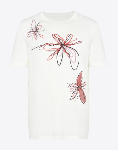 MAISON MARGIELA Short sleeve t-shirt U Embroidered cotton T-shirt f