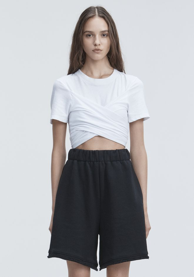 T by ALEXANDER WANG 上衣 女士 HIGH TWIST CROPPED TEE