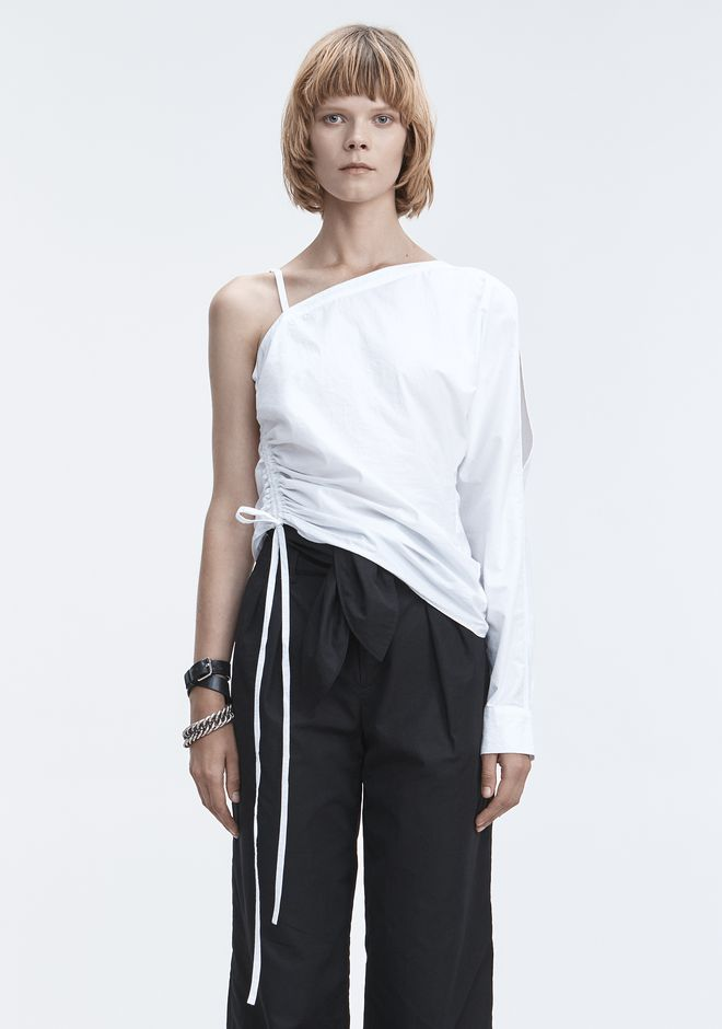 T by ALEXANDER WANG 上衣 女士 ONE-SLEEVE RUCHED TOP