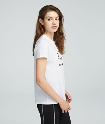 KARL LAGERFELD ADDRESS LOGO T-SHIRT