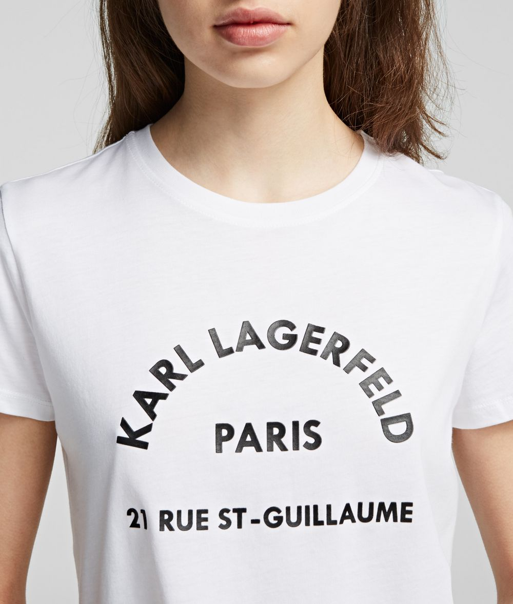 KARL LAGERFELD Address Logo T-Shirt T-shirt Woman d