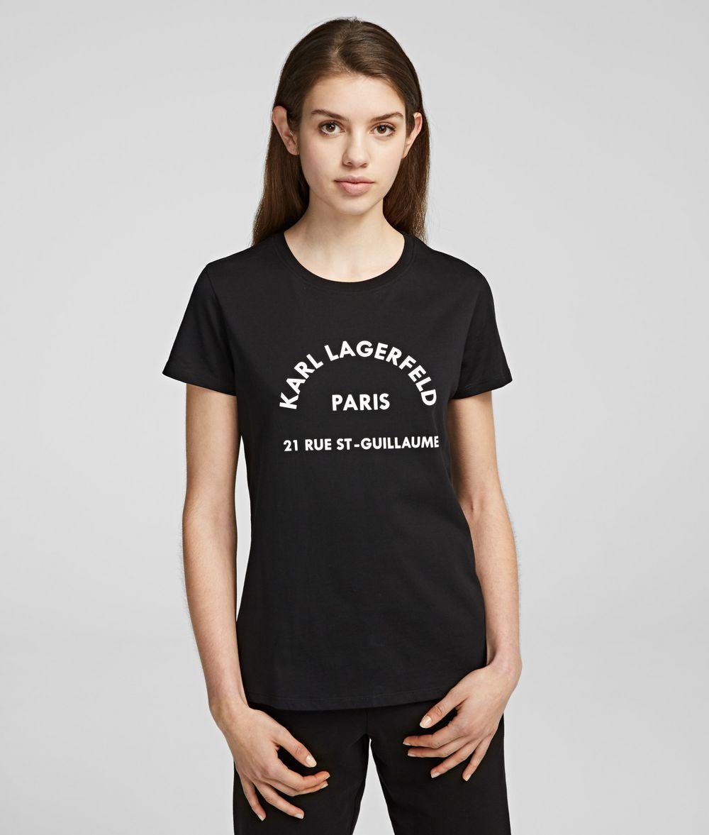 KARL LAGERFELD Karl Lagerfeld Address Tee T-shirt Woman f