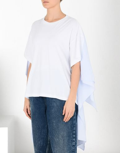 MM6 MAISON MARGIELA Short sleeve t-shirt Woman Cotton cape T-shirt f