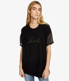 KARL LAGERFELD GEMSTONE KARL ORGANZA TOP