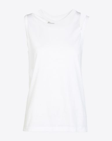MAISON MARGIELA Sleeveless t-shirt D Deconstructed sleeveless cotton T-shirt f