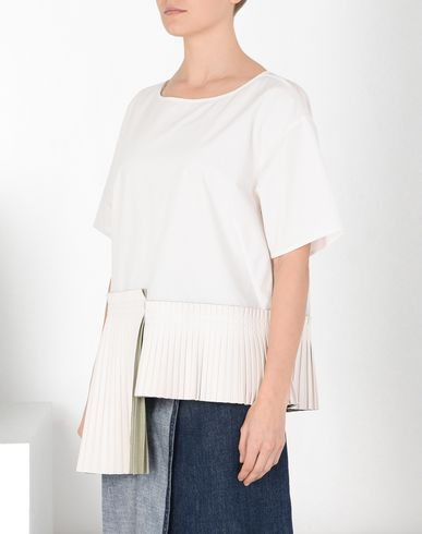MM6 MAISON MARGIELA Top D T-shirt with pleated details f